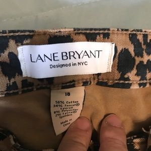 Lane Bryant Leopard ankle pants